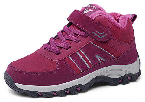 Women's Warm Cotton Casual Running Sneaker - DARK CARNATION PINK EU 35