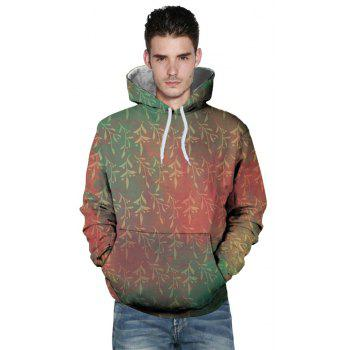 Sweat à capuche imprimé automne hiver Willow Branches - multicolor L