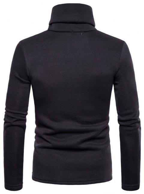 Bottoming Shirt Slim Men's High Collar Solid Color Sweater - CARBON GRAY L