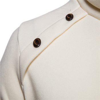 Bottoming Shirt Slim Men's High Collar Solid Color Sweater - BEIGE M