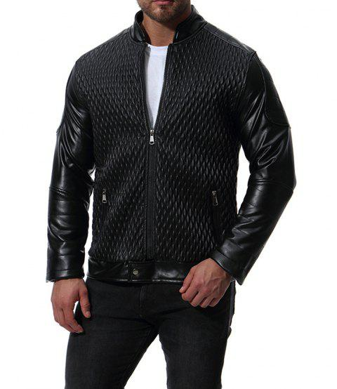 Men's High Quality Design Leather Jacket - BLACK L