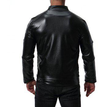 Men's High Quality Design Leather Jacket - BLACK XL