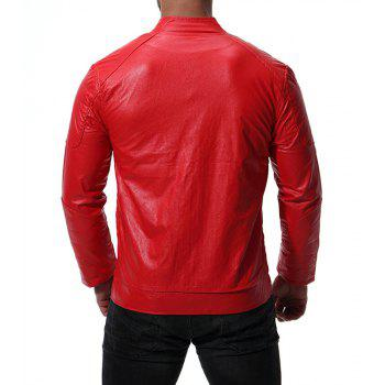 Men's High Quality Design Leather Jacket - RED S