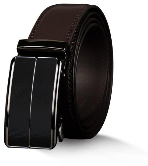 COWATHER CZ070 Casual Automatic Buckle Leather Simple Business Men'S Belt - BROWN 130CM