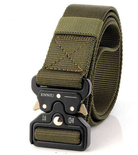 ENNIU Multi-Function Army Fan Outdoor Special Forces Training Nylon Belt - ARMY GREEN