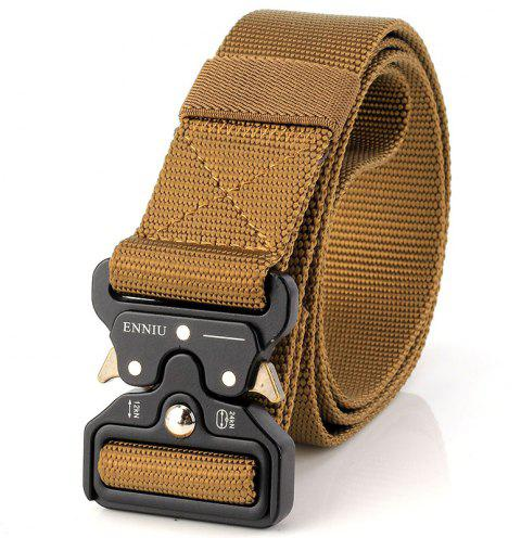 ENNIU Multi-Function Army Fan Outdoor Special Forces Training Nylon Belt - LIGHT BROWN