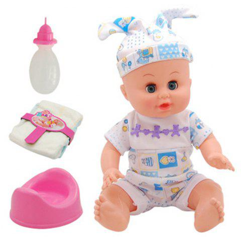 4 D Simulation Will Talk Can Urinate Drink Baby Doll Toy - multicolor C