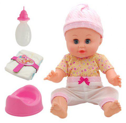 4 D Simulation Will Talk Can Urinate Drink Baby Doll Toy - multicolor D