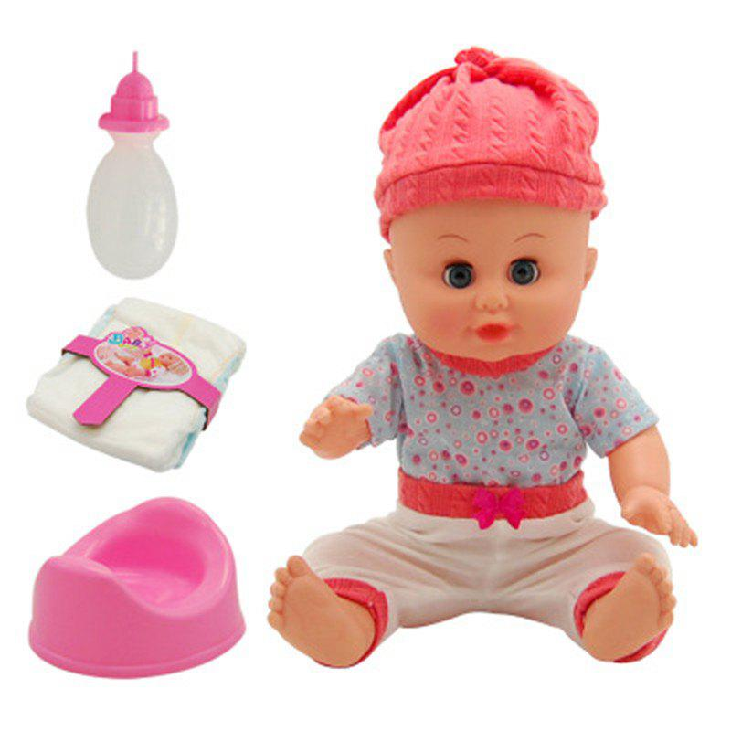 4 D Simulation Will Talk Can Urinate Drink Baby Doll Toy - multicolor A