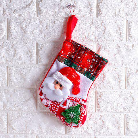 Christmas Stocking Decoration Children'S Candy Gift Bag - multicolor A 25*19*3CM