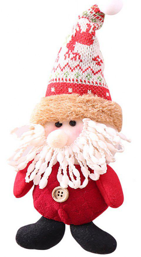 A Small Cartoon Doll for Christmas Decoration - multicolor A 9*8*31