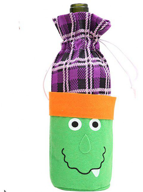 Creative Decoration of Halloween Cloth Bottle Cover - multicolor A 13*2*28CM