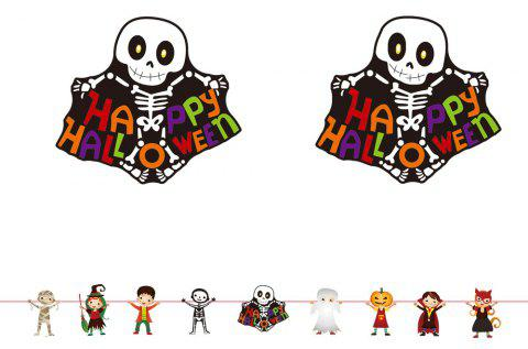 Halloween Decorations Cartoon Colorful Flags - multicolor C 300*0.3*22.5CM