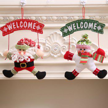 Christmas Decoration Cloth Art Welcome Hanging - multicolor A 21*6*33CM