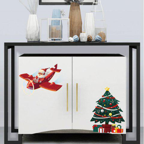 YY2549 Merry Christmas PVC Toilet Fridge Wall Sticker - multicolor
