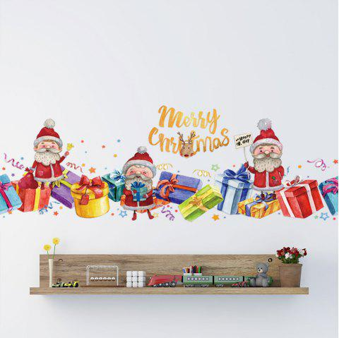 Merry Christmas PVC Wall Stickers - multicolor