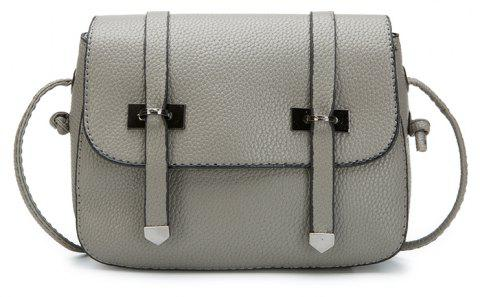 Lychee  Double Arrows Striped Small Square Bag Satchel - DARK GRAY