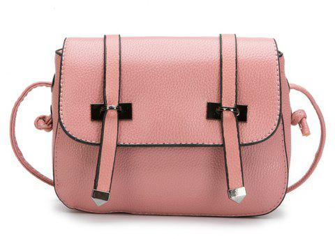 Lychee  Double Arrows Striped Small Square Bag Satchel - LIGHT PINK