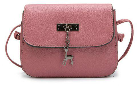 Lychee Tattoo Tassel Lady Satchel Crossbody Bag - DEEP PINK