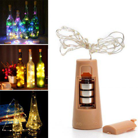 20 LED Strip Wine Bottle Lamp Fairy Lights Cork String Wire 2M Party Wedding - multicolor