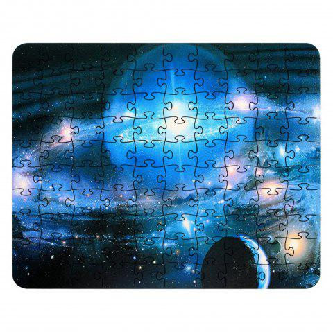 3D Jigsaw Space Light  Paper Puzzle Block Assembly Birthday Toy - multicolor