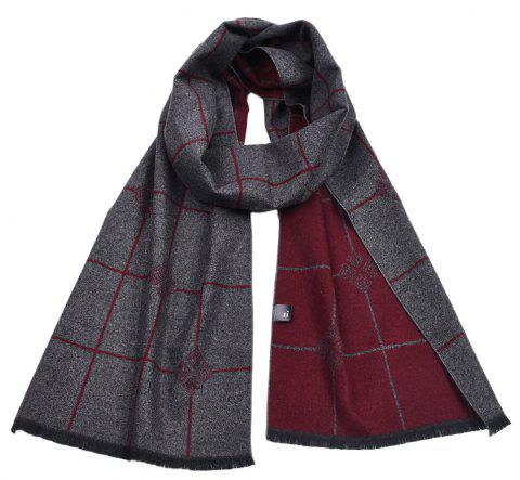 Men's Double-Sided Warm Yarn-Dyed Scarf - multicolor C