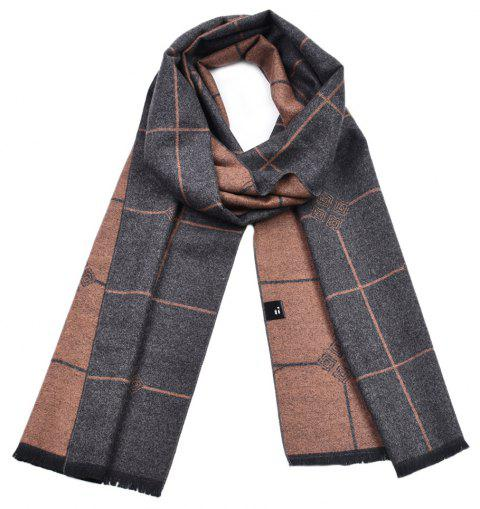 Men's Double-Sided Warm Yarn-Dyed Scarf - multicolor A