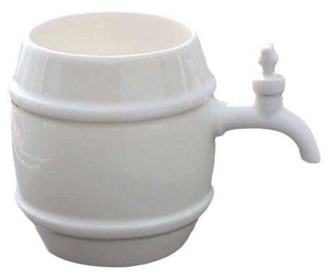 400ml Creative Faucet Style Mug Ceramic Coffee Cup - WHITE