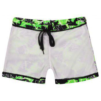 658 Tight Fast Drying Children's Swimming Pants - EMERALD GREEN XS