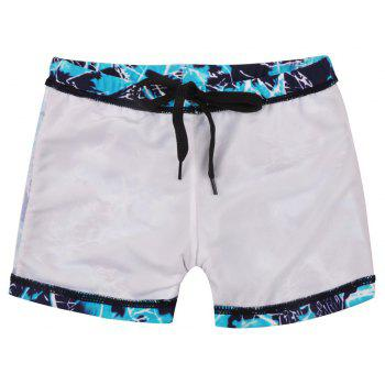 658 Tight Fast Drying Children's Swimming Pants - BLUE IVY L