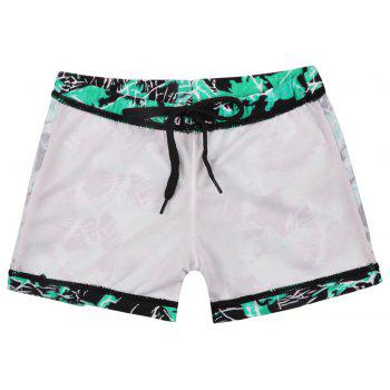 658 Tight Fast Drying Children's Swimming Pants - TURQUOISE S