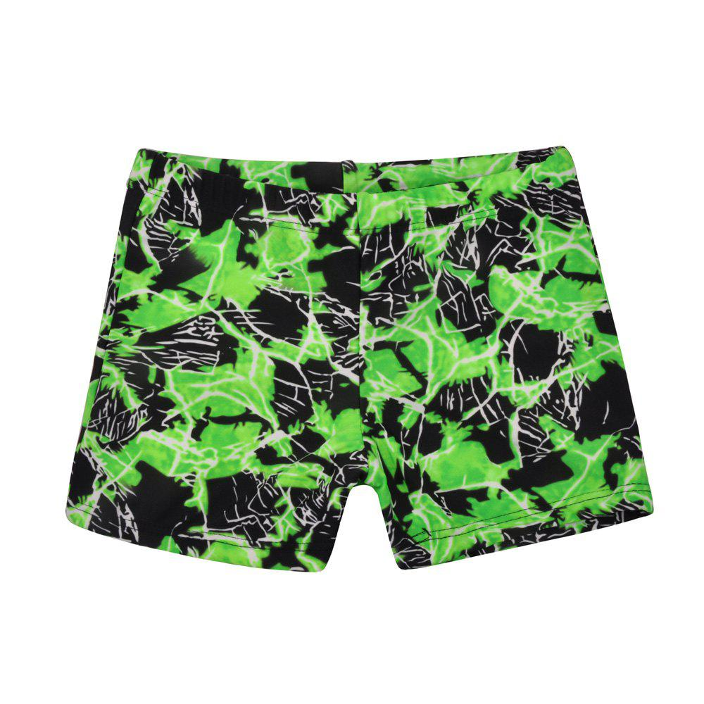 658 Tight Fast Drying Children's Swimming Pants - EMERALD GREEN M