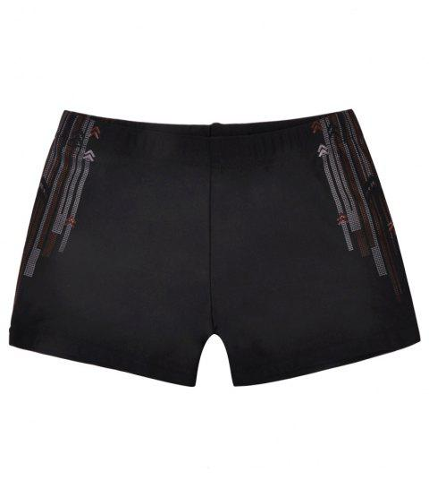 1008 Tight Fast Drying Children's Swimming Pants - BLACK XS