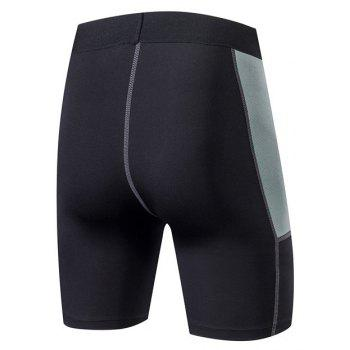 Men PRO Sports Fitness Running Perspiration Quick Dry Shorts - BLACK 2XL