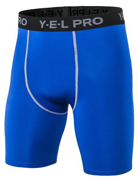 Men's Sports PRO Fitness Running Training Quick Dry Shorts - BLUE S