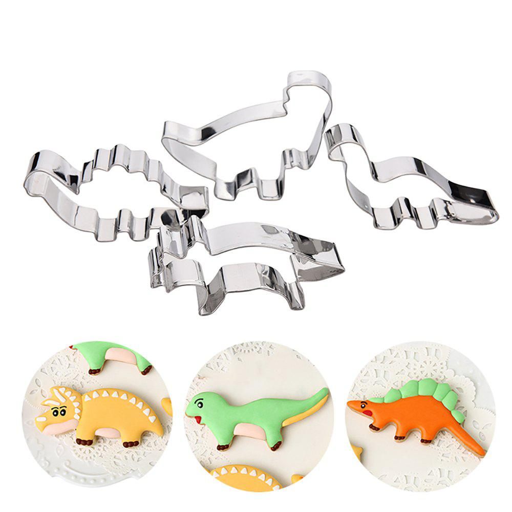 DIY Stainless Steel Dinosaur Cake Molds Fondant Cookies Cutters - SILVER