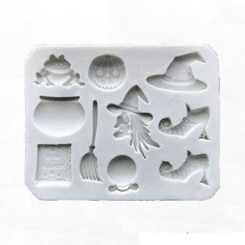 Halloween Fondant Silicone Mold Cake Decorating Tool for Chocolate Gumpaste - MILK WHITE