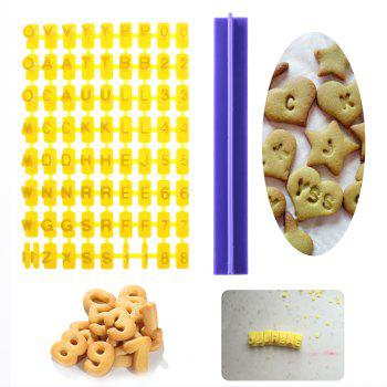 Alphabet Letters Numbers Tappits Frill Edge Fondant Gum Paste Cutters - YELLOW