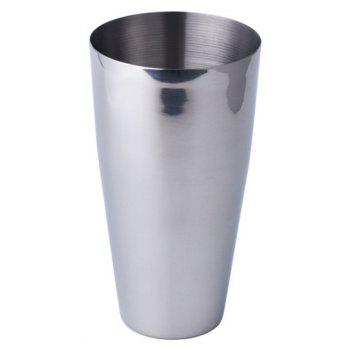 Stainless Steel Cocktail Mixer Boston Style Glass Shaker Party Tool - SILVER