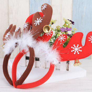 Christmas Ornament  Feathered Antler Headband - RED 22*3*22CM