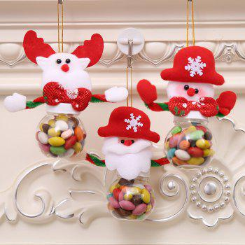 Candy Jar for Christmas Decoration - multicolor A 5*5*12CM