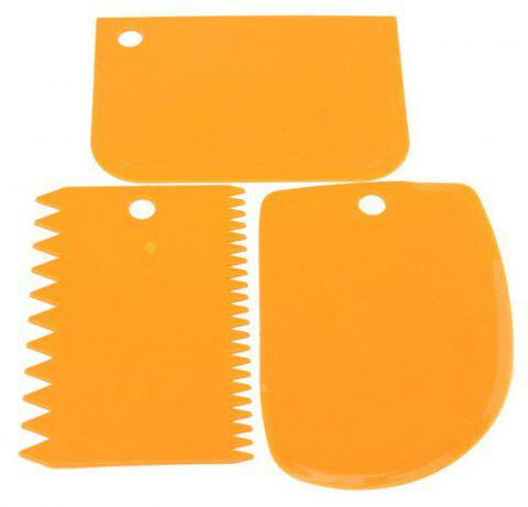 DIY Scraper Cream Scraper Set Cake Mold Tool 3PCS - ORANGE