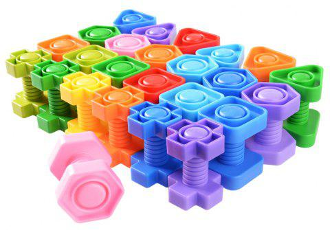 Happy Maty LY-Z1104 Blocs de construction à vis - multicolor 104PCS