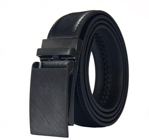 Automatic Hight Quality Men'S Business Leather Belt - BLACK 120CM