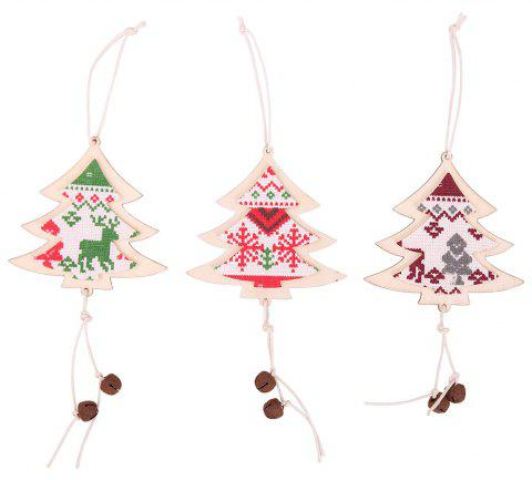 Christmas Bell Wooden Cloth Hanging - multicolor 8*6*22CM