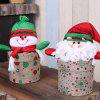 Christmas Ornament Cloth Candy Jar - multicolor A 11*7*23CM