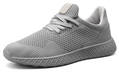 333d0785d60f0 Fly Knit Breathable Comfortable Recreational Sports Big Yards Male Shoe -  GRAY EU 39