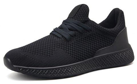 Fly Knit Breathable Comfortable Recreational Sports Big Yards Male Shoe - BLACK EU 39