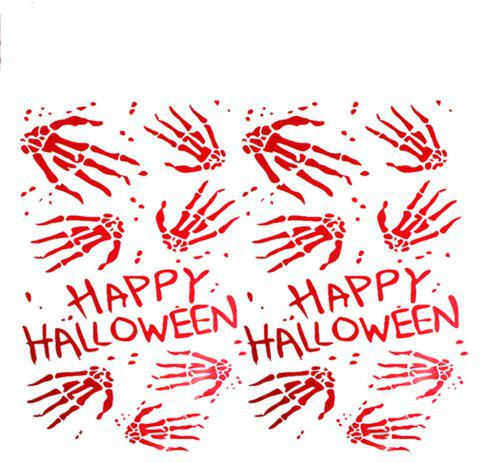Halloween Scene Are Decorated with Waterproof Wall Sticker - RUBY RED 50*28*0.5CM
