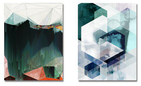 DYC Fashionable Abstract Geometry Art Painting for Home Decoration - multicolor